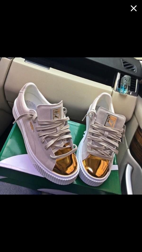 30a80e5254 Suede Platform Gold Women's Sneakers, buy it @ www.puma.com