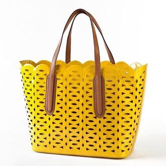 bag yellow tote bag summer bag