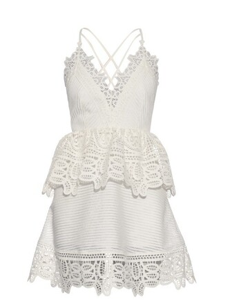 dress back open lace white