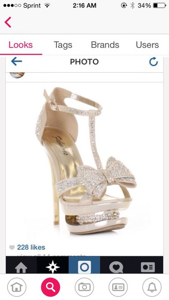 shoes heel bows prom sparkle beautiful stunting