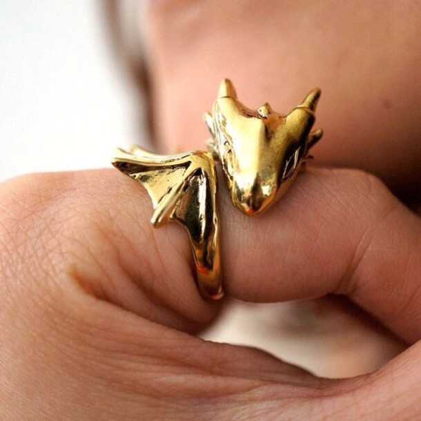 jewels gold dragon game of thrones game of thrones ring ring gold ring cool perfect girly grunge cute nice pretty indie retro vintage goth chic a game of thrones jewelry rings and tings