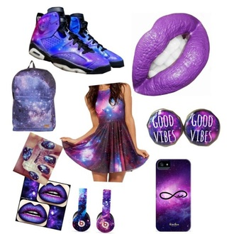 earphones galaxy clothing love it dress