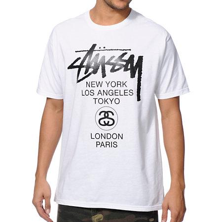 Stussy World Tour White T-Shirt