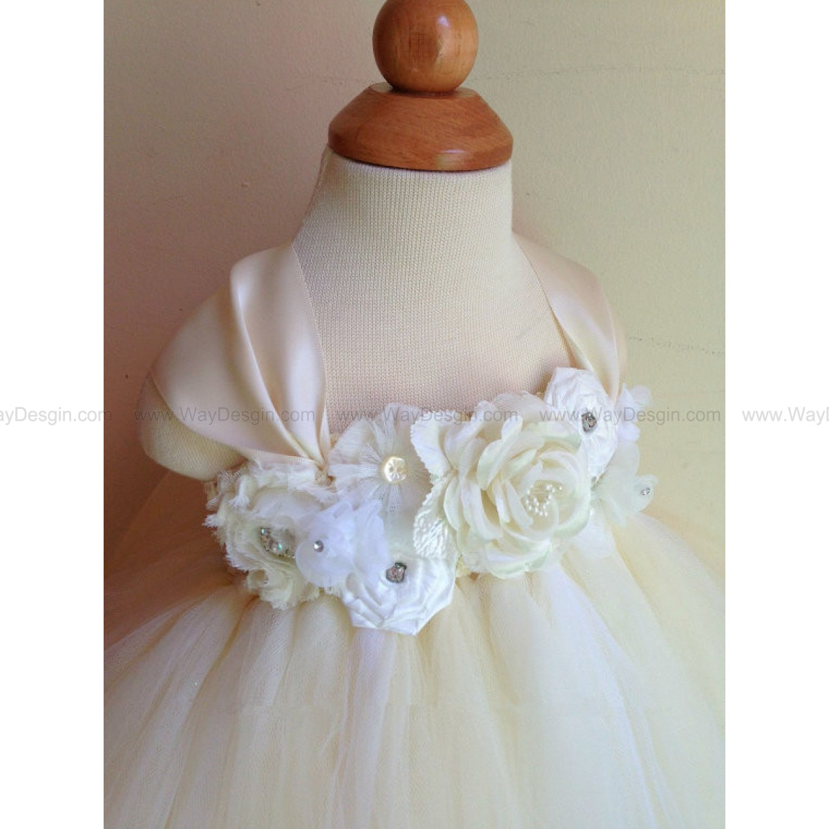Flower girl dress, ivory and white tutu dress, baby tutu dress, toddler tutu dress, newborn