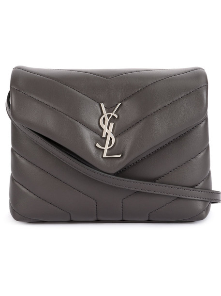 Saint Laurent mini women bag mini bag leather cotton grey