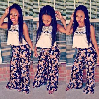 floral instagram floral shorts jumpsuit la folie los angeles folie twitter vines