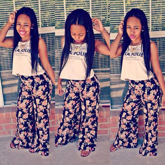 floral floral shorts instagram jumpsuit la folie los angeles folie twitter vines