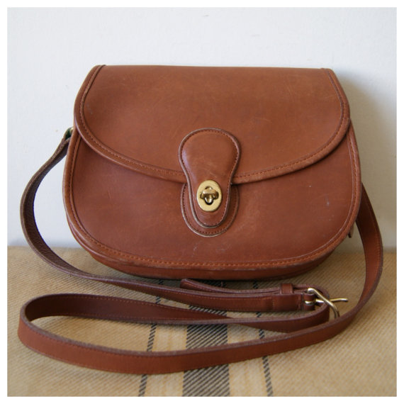 Vintage Coach Crossbody Purse. Brown by NewOldFashionVintage