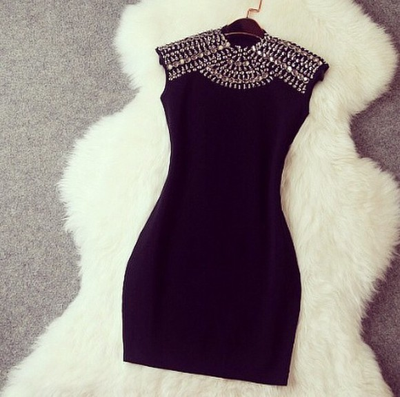 perfecto black short party dresses diamonds black dresses black diamonds dress fashion style gorgeous pearl mini dress glitter silver