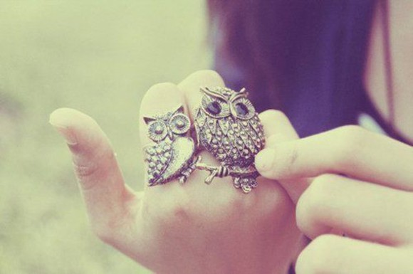 jewels owl cute ring