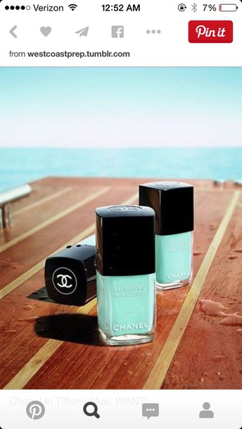 nail polish tiffany blue blue teal mint chanel
