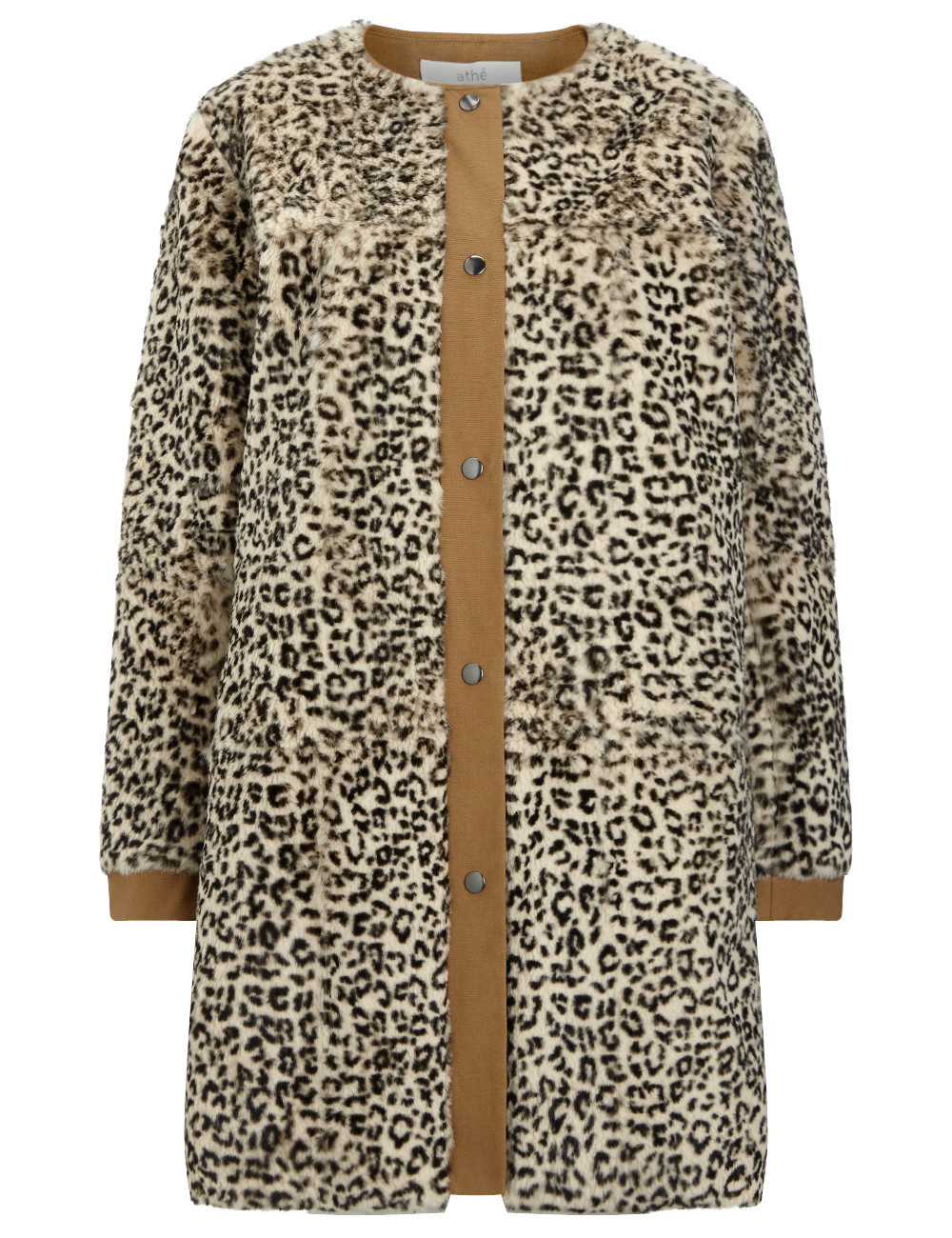 Leopard Print Rabbit Fur Coat