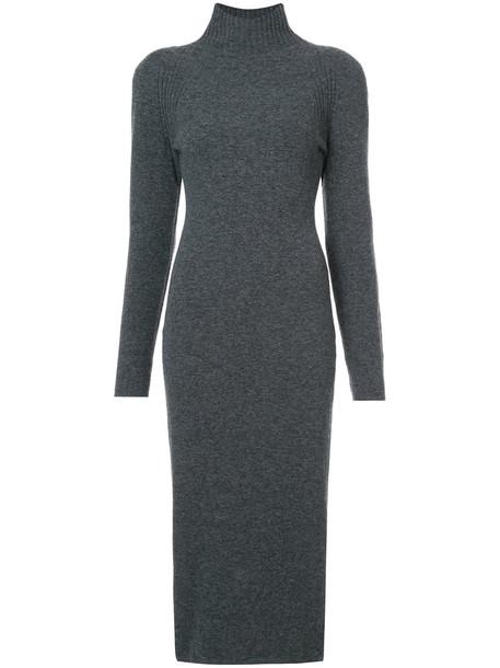 Haider Ackermann dress sweater dress women spandex wool grey