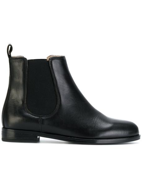 ANNA BAIGUERA women leather black shoes