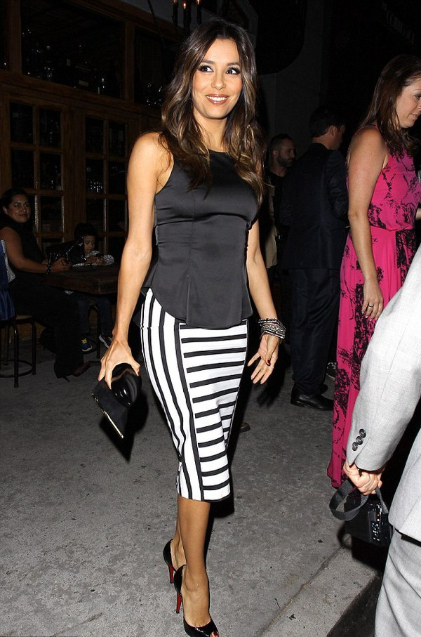 top eva longoria shoes skirt