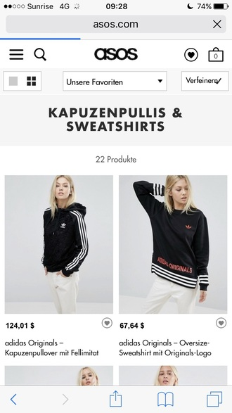 sweater adidas white classy black stripes cool
