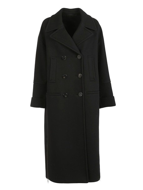 neil barrett coat double breasted black