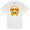 Smiley heart love t-shirt - basic tees shop