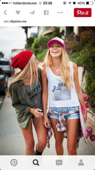 top jacket style shorts hat outfit fashion penny board vans warped tour summer sports