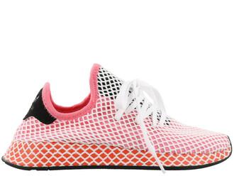 sneakers pink orange shoes