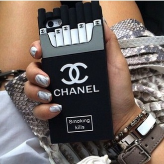 phone cover chanel cover iphone cover iphone cc nails cigarette case style tumblr