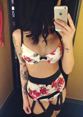 underwear floral bikini