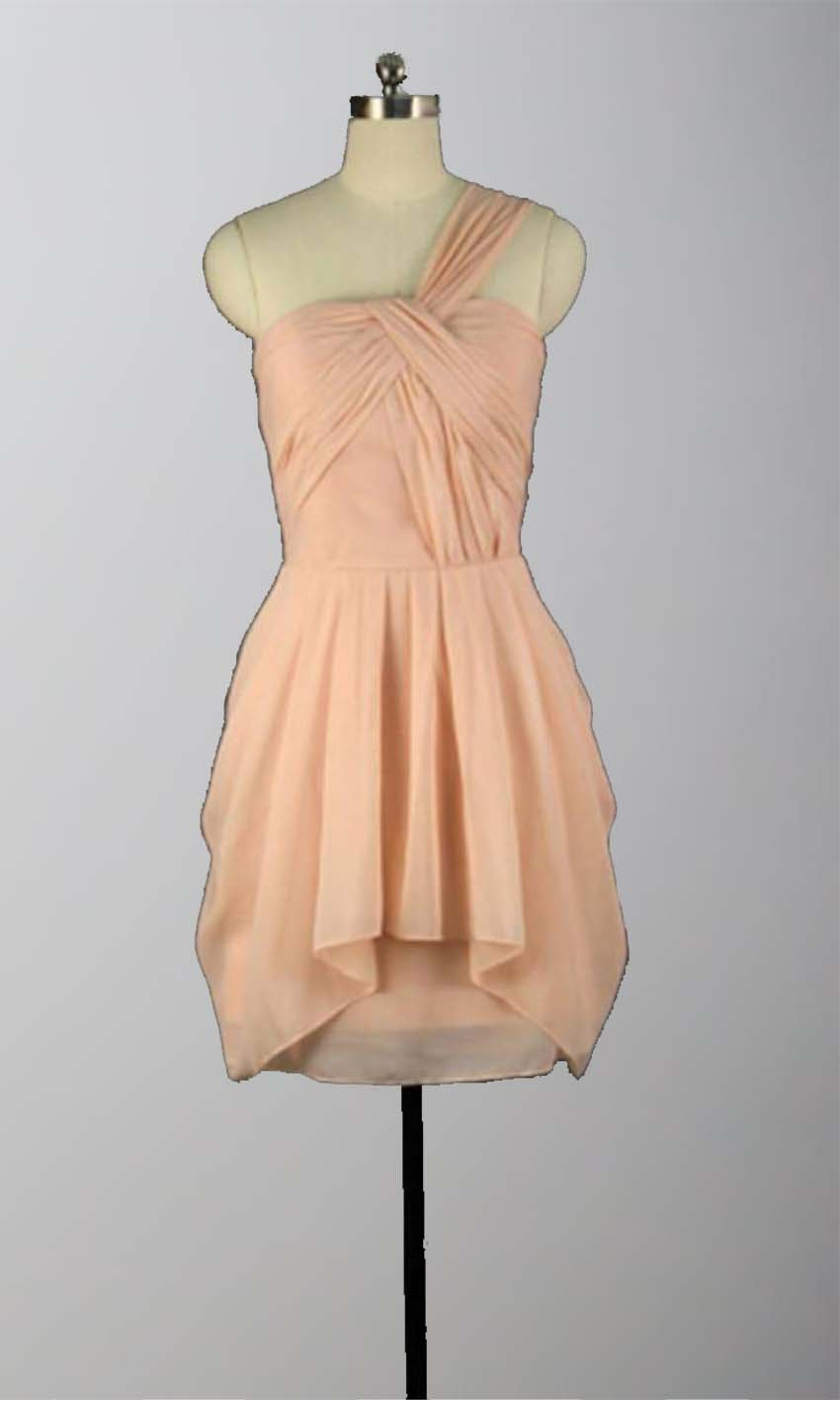 Peach Chiffon Cheap Short Bridesmaid Dresses KSP315 [KSP315] - £79.00 : Cheap Prom Dresses Uk, Bridesmaid Dresses, 2014 Prom & Evening Dresses, Look for cheap elegant prom dresses 2014, cocktail gowns, or dresses for special occasions? kissprom.co.uk offers various bridesmaid dresses, evening dress, free shipping to UK etc.