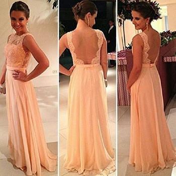 Lace stitching chiffon dress vd1117da