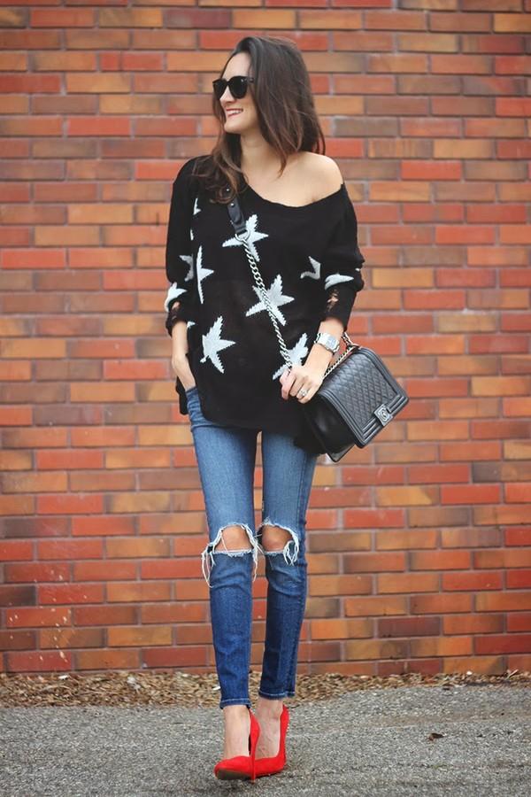 frankie hearts fashion sweater shoes bag