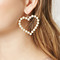 Faux pearl heart drop earrings