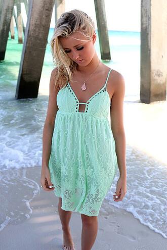 dress amazinglace amazinglace.com beach summer babydoll mint lace pretty
