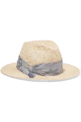 fedora beige hat