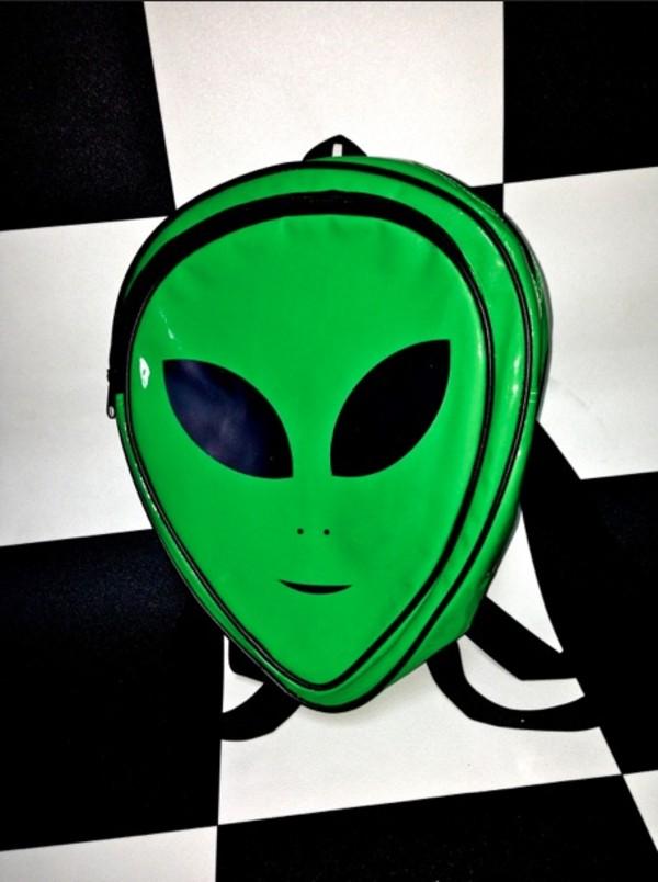 bag alien alienbag alienbackpack backpack alien
