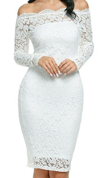 442786f87 dress lace lace dress white lace white lace dress long sleeves long sleeve  dress bardot dress