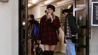 coat red plaid clueless cher 90s style red plaid skirt hat