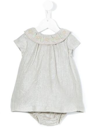 dress metallic nude cotton