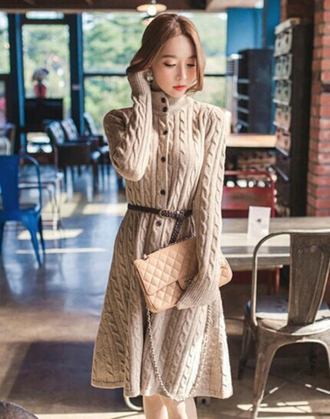 Fashion Sweater Clothes Long Sweater Sexy Sweater Coat