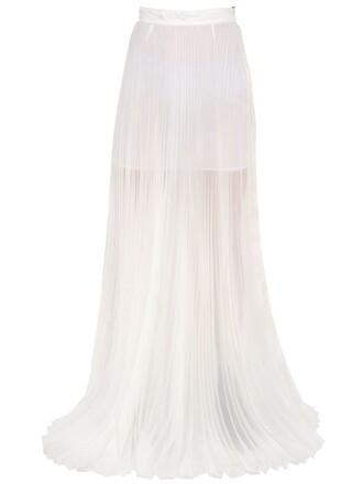 skirt silk white
