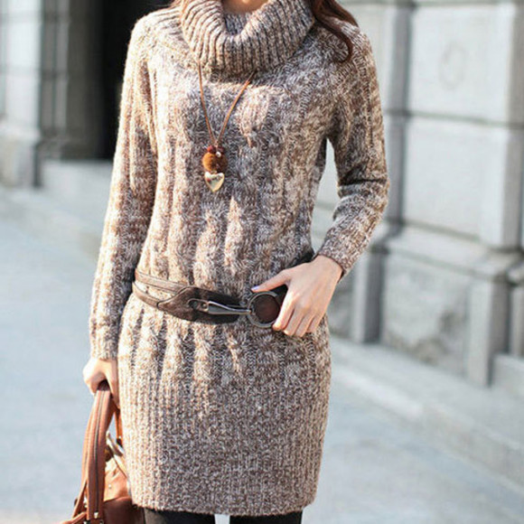 long slim sweater loose