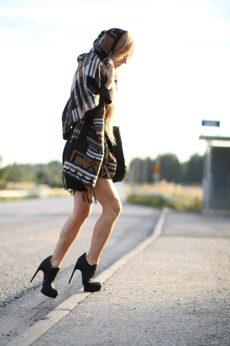poncho 5 inch and up tribal pattern jacket shoes