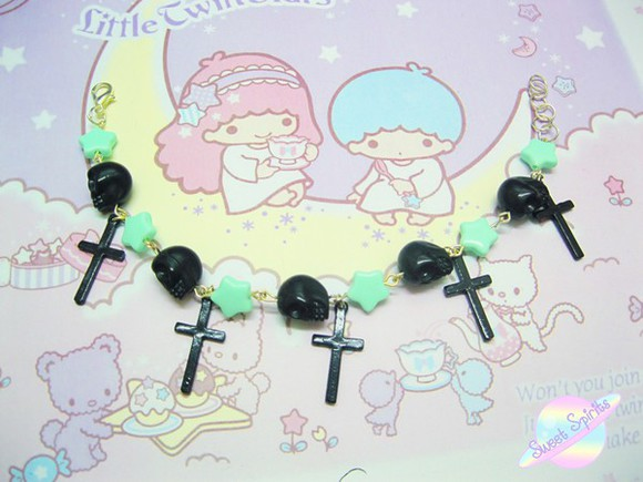 jewels pastel goth, emo, gothic, fashion, cool, kawaii