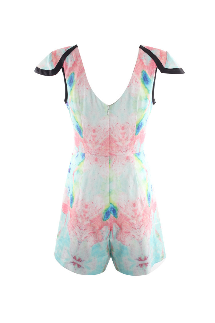 """abstract love"" pastel onepiece romper playsuit – glamzelle"