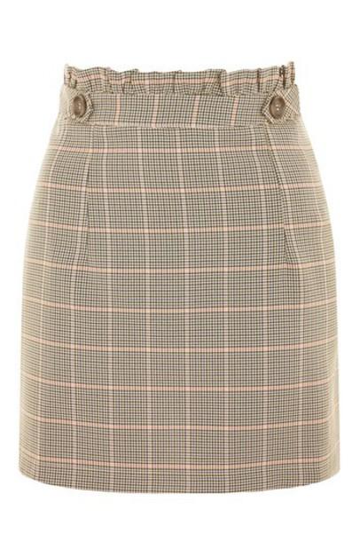 Topshop skirt mini skirt mini brown