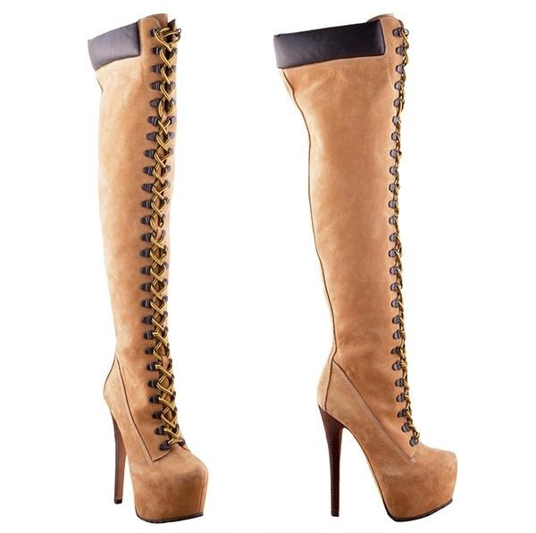 Thigh High Timberland Boots Royalty Dream Hair & Boutique