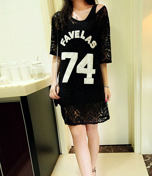 The favelas lace long shirt