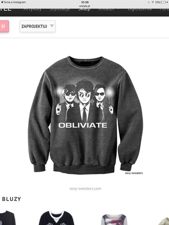 sweater harry potter obliviate men in black