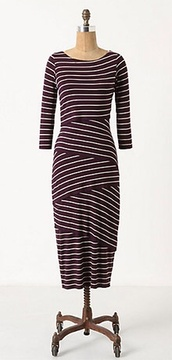 dress,purple,tiered,stripes,bailey 44,anthropologie