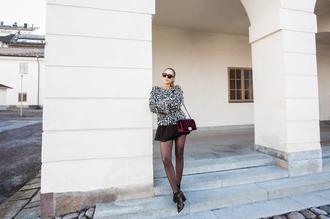 kenza blogger shoes sweater sunglasses bag