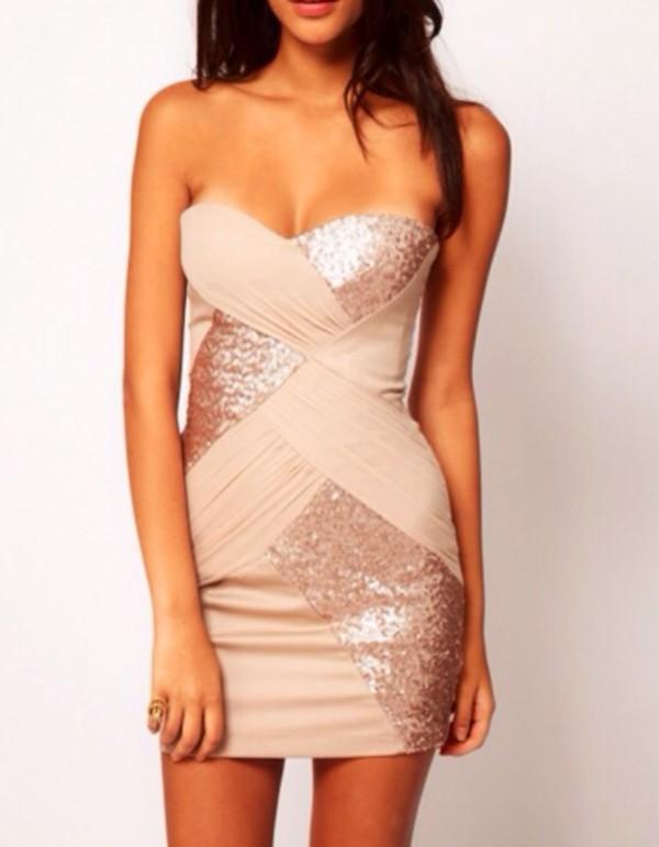 dress tan dress mini dress bodycon dress beige dress sparkly dress cross dress bandage dress