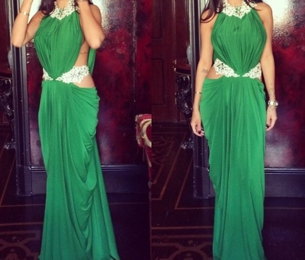 dress green maxi dress maxi green gown gown rebecca stella